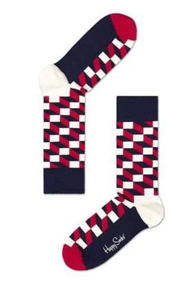 Happy Socks Women's Filled Optic Sock 068 3/4 Socks,4-7 (Manufacturer Size:36-40)