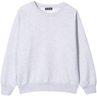 Balenciaga kids crew neck sweatshirt heather grey