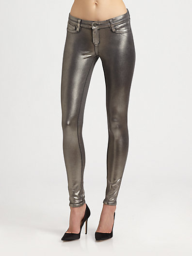 Bleu Lab Bleulab Detour Reversible Coated Denim Leggings