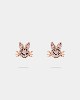 Ted Baker SABRO Crystal kitten earrings