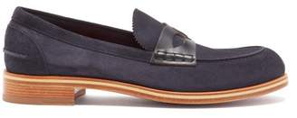 Christian Louboutin Montezumolle Suede Penny Loafers - Mens - Navy