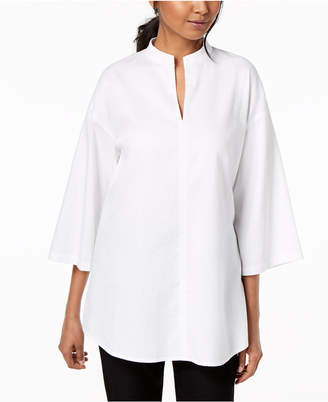 Eileen Fisher Organic Cotton Wide-Sleeve Tunic