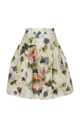 Marchesa Floral Printed Skirt