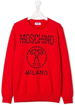 84aadddf0d2 Moschino Kids TEEN logo printed sweatshirt