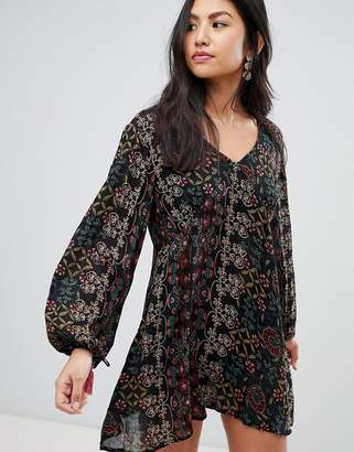 Raga Yasmin Printed Long Sleeved Dress
