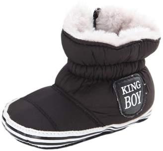 Leapfrog Baby Boys Girls Winter Fleece Mid Calf Sports Snow Boots Crib Shoes