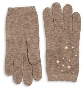 Portolano Studded Fur Gloves