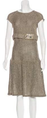 Valentino Silk and Virgin Wool-Blend Dress