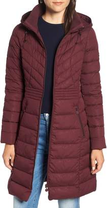 Bernardo Stretch Quilted Walker Coat