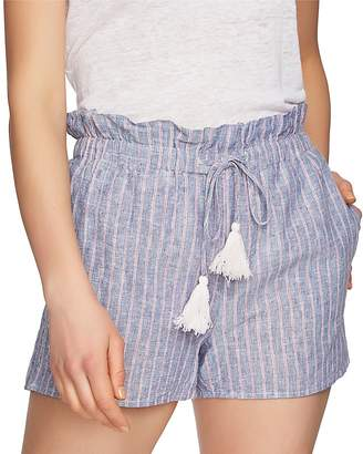 1 STATE 1.STATE Striped Chambray Shorts
