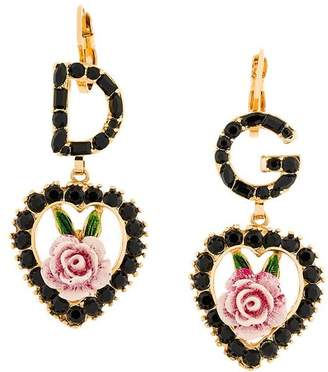 Dolce & Gabbana logo rose earrings