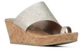 Donald J Pliner Giles Glitter and Cork Wedge Sandals