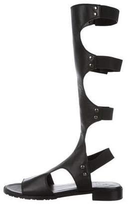 Stuart Weitzman Leather Gladiator Sandals