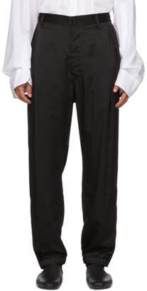 BED J.W. FORD Black Satin Track Pants