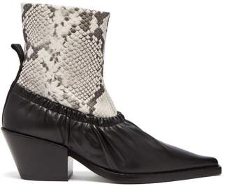 Joseph Albias Leather Ankle Boots - Womens - Black White