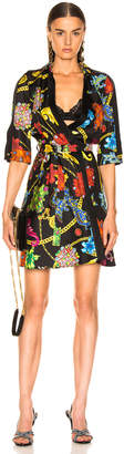 Versace Catene Print Dress in Black Stampa | FWRD