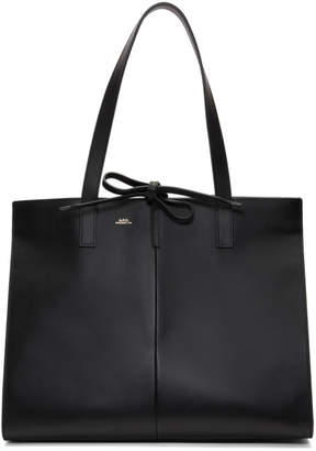 A.P.C. Black Large Emy Tote