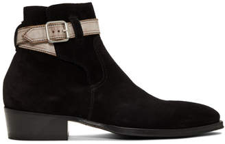 Paul Smith Black Denza Buckle Boots