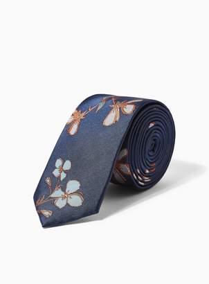 TopmanTopman Navy Large Floral Print Tie