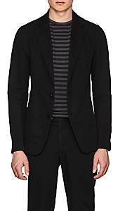 Officine Generale Men's Slub-Weave Cotton-Linen Two-Button Sportcoat-Black