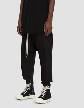 Rick Owens Drawstring Cropped Pant in Black