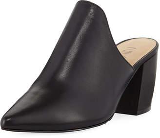 Neiman Marcus Resel Napa Block-Heel Mules