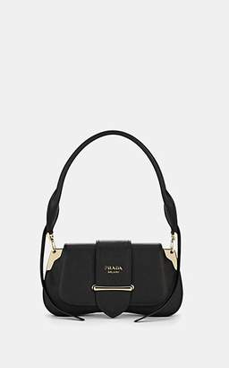 Prada Women's Sidonie Leather Shoulder Bag - Black