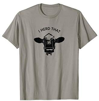 Funny Ranch Cow T Shirt Cattle Farmer Gift Shirt Dairy Cow