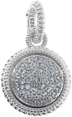 Judith Ripka Verona Sterling Silver Pave Charm Enhancer