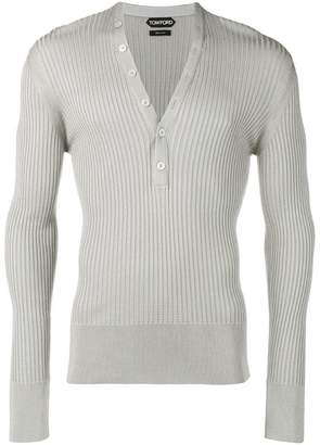 Tom Ford V-neck ribbed sweater