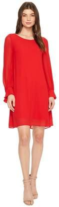 Taylor Crepe Shift Dress w/ Chiffon Sleeves Women's Dress
