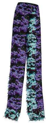 Mary Katrantzou Printed Raw-Edge Scarf
