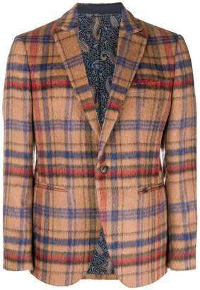 Etro checked jacket