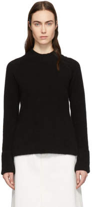 3.1 Phillip Lim Black Lofty Raglan Sweater