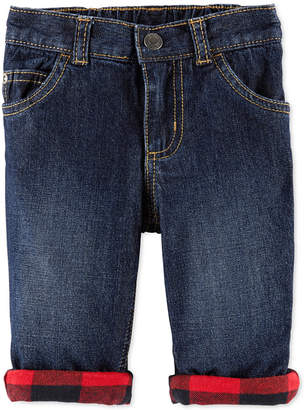 Carter's Carter Baby Boys Pull-On Cuffed Cotton Jeans
