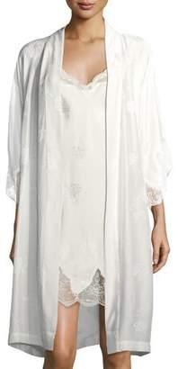 Lise Charmel Bridal Lace-Trim Silk-Blend Robe $361 thestylecure.com