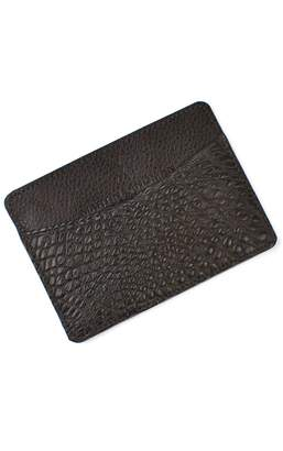 Martin Dingman 'Jameson' Matte Finish Genuine Alligator Leather Card Case