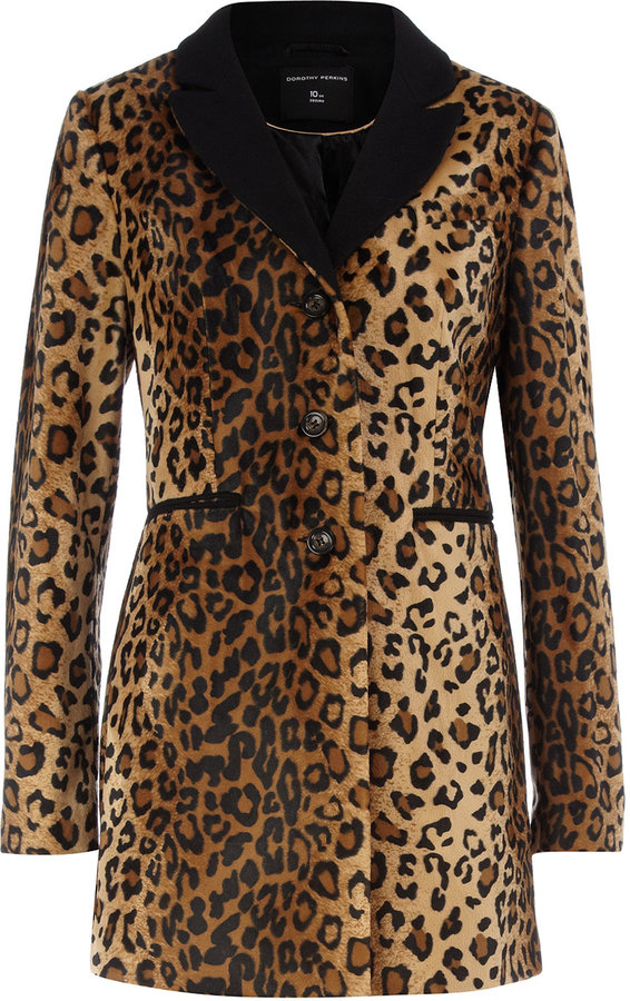 Leopard slimline coat