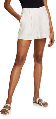 Frame Fine Linen High-Rise Shorts