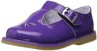 Baby Deer Girls' Patent T-Strap with Perfs Esadrille