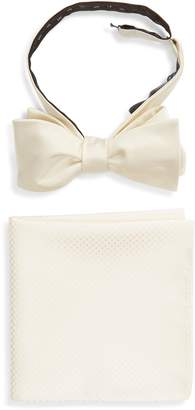 The Tie Bar Formal Silk Bow Tie & Pocket Square Style Box