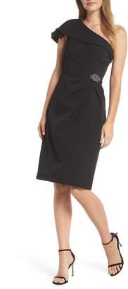 Alex Evenings One-Shoulder Sheath Dress