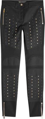 Versace Stud-Embellished Skinny Jeans