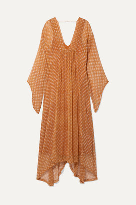 Cloe Cassandro - Gabriella Printed Silk-crepon Kimono - Orange
