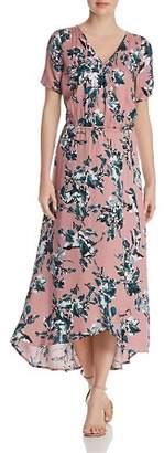 Splendid Floral Print Faux-Wrap Maxi Dress
