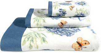 Lenox Blue Floral Garden Bath Towel Bedding
