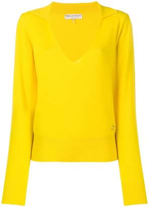 Emilio Pucci Yellow Cashmere Polo Jumper