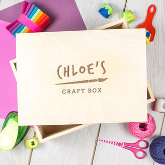 Dust and Things Personalised Engraved Children's Art And Craft Box