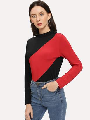 SheinShein Color Block Slim Fitted Tee