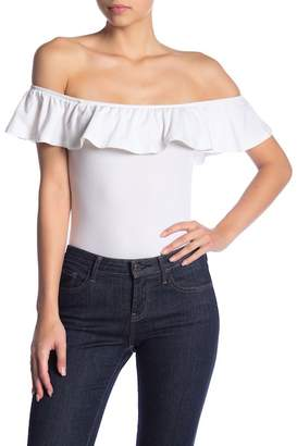 Ten Sixty Sherman Ruffled Off-the-Shoulder Bodysuit